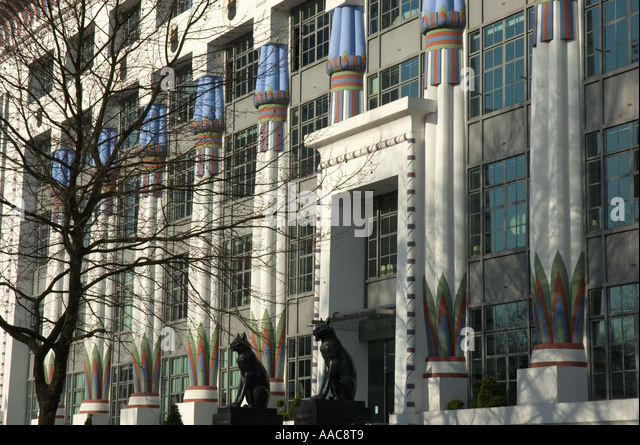 The Carreras Building Art Deco Style Architecture Hampstead Road Stock Phot