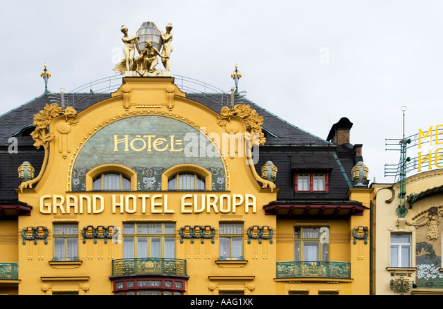 Art nouveau era 39 grand hotel europe 39 1906 prague czech for Hotel europa prague