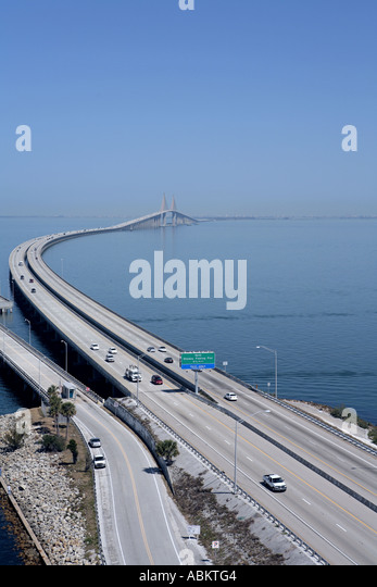 Scenic aerial photo of sunshine skyway bridge fishing for Skyway bridge fishing