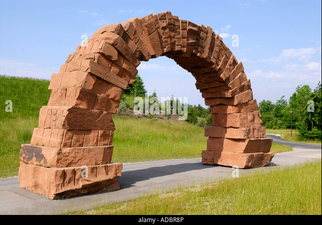 Grand Rapids Arch By Andy Goldsworthy At The Frederik Meijer Gardens Stock Photo Royalty Free