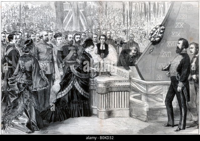 The princess of wales launching the new ironclad ship for 32 princess of wales terrace