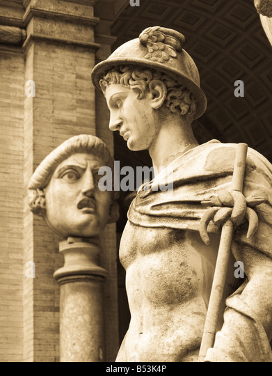 Mercury, Roman Messenger to gods - Two statues in ...