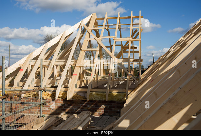 The Hip End Now Joined To Attic Trusses In The Course Of