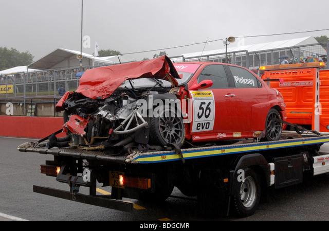 Alfa Romeo 156 Btcc Super Touring Car: Wrecked Alfa Romeo 156 Touring Car After A Crash At Brands
