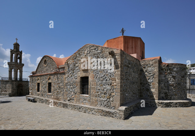 Church Kimisis tis Theotokou, Asklipio, Rhodes, Greece ...
