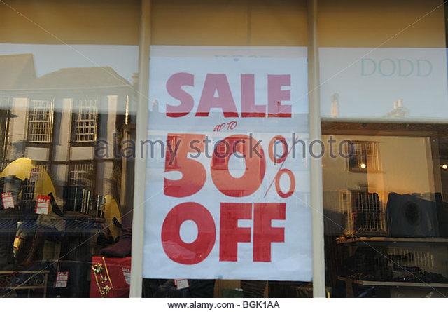 Sale sign flag room shop shops 50 25 percent off january for Living room 50 off january