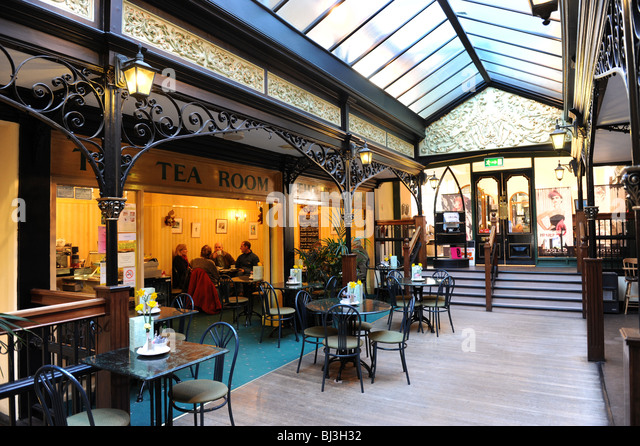 Westminster arcade victorian shops and tea room Harrogate