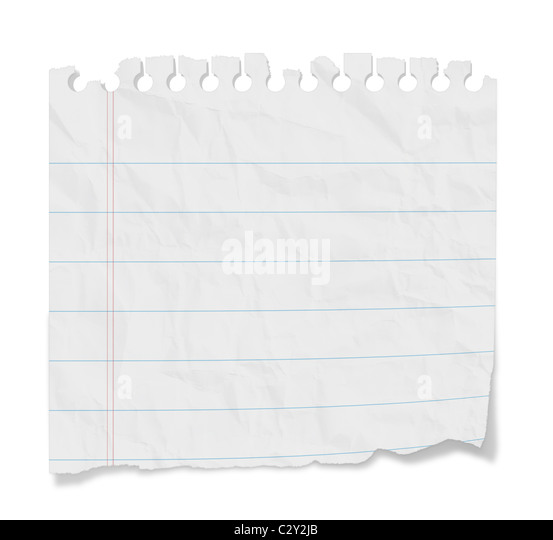Torn blank lined paper from a notepad with shadows Isolated on a – Blank Line Paper
