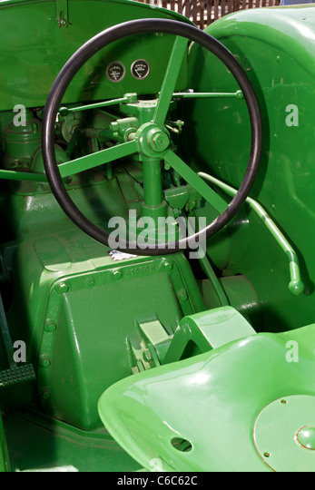 With John Deere Seats Contorls : Seat and controls of the john deere aos tractor on