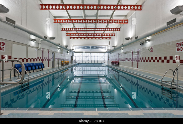 Swimming Pool At The Southfields Community College Wandsworth Stock Photo Royalty Free Image
