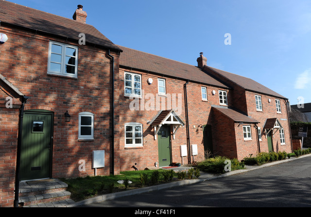 Modern terraced houses uk stock photo royalty free image for Whats a terraced house