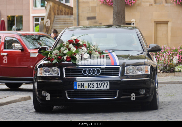 black audi a8 station wagon wedding car luxury limousine vehicle with stock photo royalty free. Black Bedroom Furniture Sets. Home Design Ideas