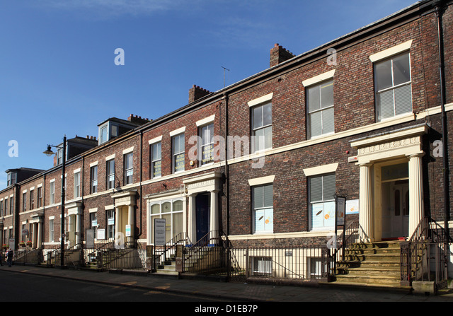 Early Victorian Terraced Town Houses Built In The Mid