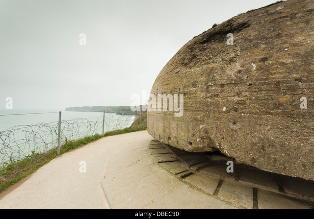 france normandy d day beaches area st pierre du mont pointe du stock photo royalty free. Black Bedroom Furniture Sets. Home Design Ideas