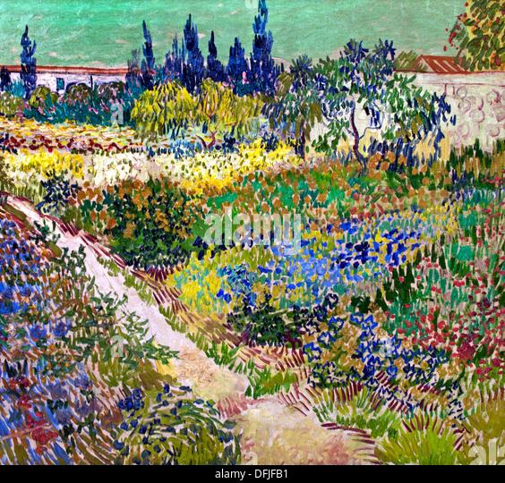 Garden At Arles Vincent Van Gogh 1853 1890 Dutch Netherlands Stock Photo Royalty Free Image