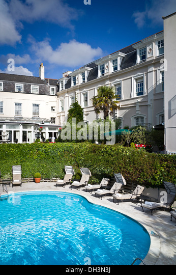 Swimming Pool In Garden Of The Old Government House Hotel In St Peter Stock Photo Royalty Free
