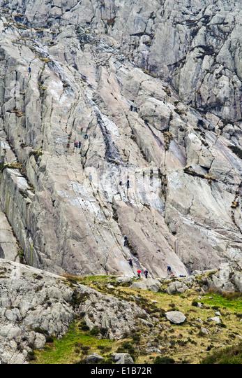 Devils Kitchen Glyder Fawr Mountain Snowdonia National
