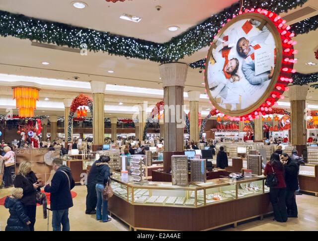 United States, New York, Manhattan, Macys department store Christmas Sto...