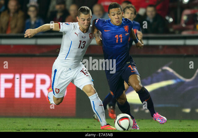 From Left: Lukas Vacha Of Czech Republic And Memphis Depay ...