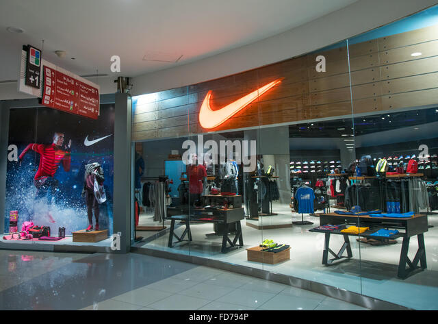 exterior view of flagship nike store in city center mall ...