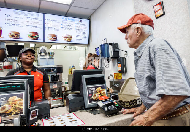 mcdonalds senior restaurant
